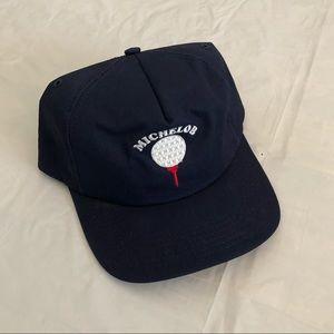Vintage 90's Michelob Beer Busch Leather Hat Cap
